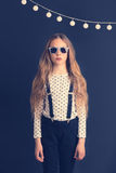 Fashion kid girl Stock Photo