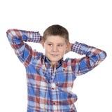 Fashion kopplade av pojken Arkivbilder