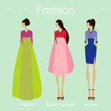 The fashion korea set and vector design.illustration royalty free stock photo