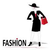 fashion kvinnan Fotografering för Bildbyråer
