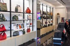 Fashion Ladies' Bag. Display of ladies' fashion leather bag stock images