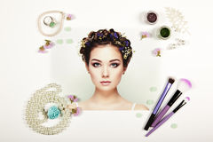 Fashion lady accessories collage Royalty Free Stock Images