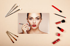 Fashion lady accessories collage Stock Photography