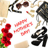Fashion lady accessories flowers. Happy Mothers day Stock Photos