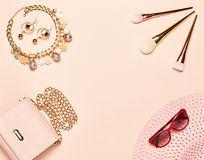 Fashion lady accessories set Stock Image