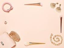 Fashion lady accessories set Stock Photo
