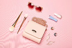 Fashion lady accessories set Royalty Free Stock Photography