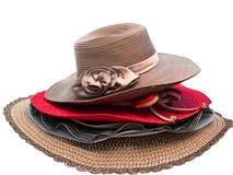 Fashion lady hat. Isolated on white background stock images