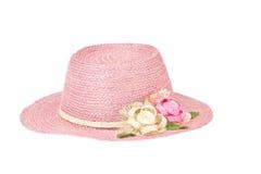 Fashion lady hat. Isolated on white stock photography