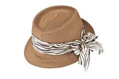 Fashion lady hat. Isolated on white background royalty free stock photo