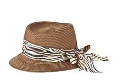 Fashion lady hat. Isolated on white background royalty free stock photography