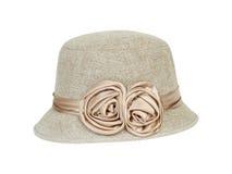 Fashion lady hat. On white background royalty free stock photography