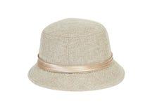 Fashion lady hat. On white background stock image