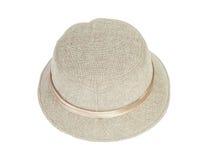 Fashion lady hat. On white background stock photography