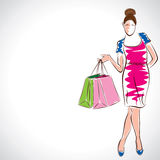 Fashion lady,shopping Royalty Free Stock Photo