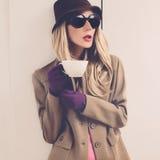 Fashion lady in stylish image Stock Photo