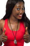 African American lady with thumbs up Stock Photography