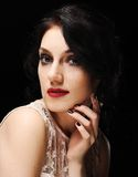 fashion ladyen Fotografering för Bildbyråer