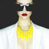 fashion ladyen Royaltyfri Foto