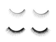 Fashion lashes set. Isolated on white Stock Photos
