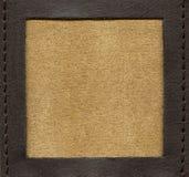 Fashion leather frame Royalty Free Stock Image