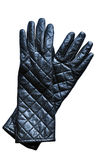 Fashion leather gloves royalty free stock photos