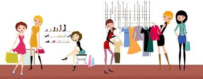 Fashion life. Fashion girls life ,illustration art Stock Photo