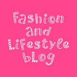Fashion and lifestyle blog modern lettering in ethnic scandinavian style Stock Photography