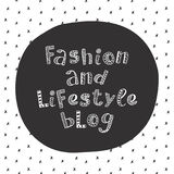 Fashion and lifestyle blog modern lettering in ethnic scandinavian style Stock Images