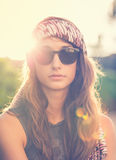 Fashion lifestyle portrait of beautiful young woman Royalty Free Stock Image
