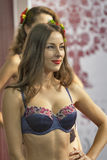 Fashion lingerie models at Kyiv Fashion 2014 Royalty Free Stock Images