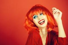 fashion lips model red στοκ φωτογραφία