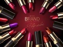 Fashion lipstick ads Stock Images