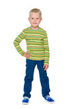 Fashion little boy in the blue pants Royalty Free Stock Images
