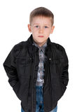 Fashion little boy in the jacket Royalty Free Stock Photography