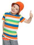 Fashion little boy in panama Royalty Free Stock Photo