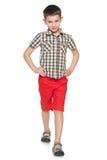 Fashion little boy walks Stock Photo