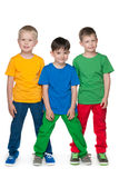 Fashion little boys against the white background Royalty Free Stock Photo