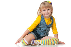 Fashion little girl Royalty Free Stock Photos