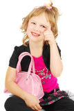 Fashion little girl. Royalty Free Stock Photos