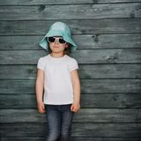 Fashion little girl, a child dressed. Beautiful exhibition. Stock Image