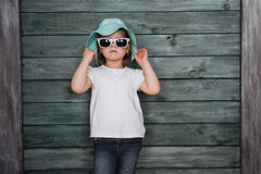 Fashion little girl, a child dressed. Beautiful exhibition. Royalty Free Stock Photo