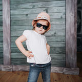 Fashion little girl, a child dressed Royalty Free Stock Photography