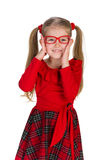 Fashion little girl in glassess Stock Photo