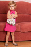 Fashion little girl at home Royalty Free Stock Images