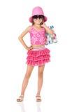 Fashion little girl Stock Photo