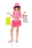 Fashion little girl Stock Photos