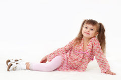 Fashion little girl posing Royalty Free Stock Image