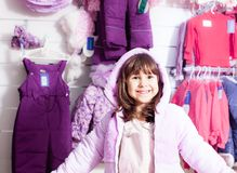 Shopping at outerwear supermarket Stock Photo