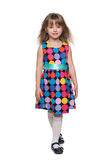 Fashion little girl walks Stock Images